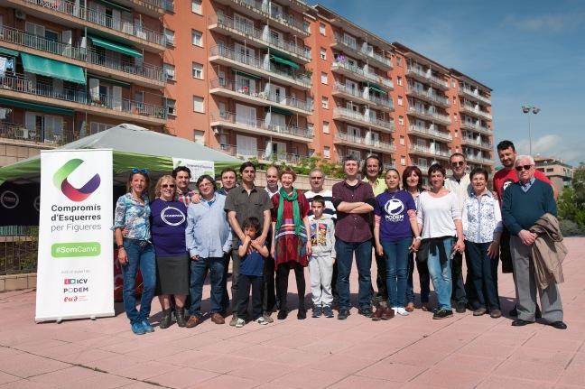 Foto de la candidatura de Compromís d'Esquerres per Figueres